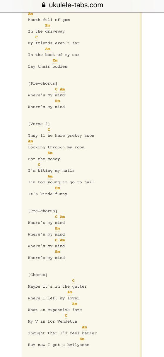 Billie eilish ukulele chords