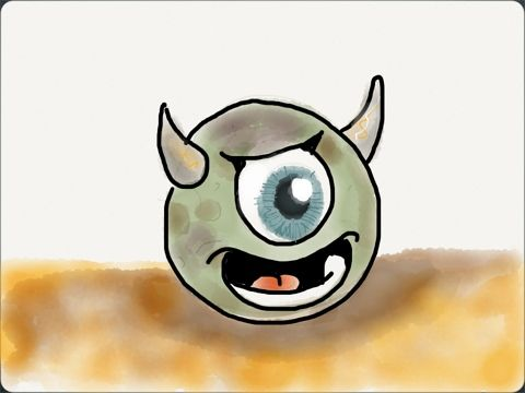 Little monster drawing - Dibujo de un pequeño monstruo ( Paper for iPad)