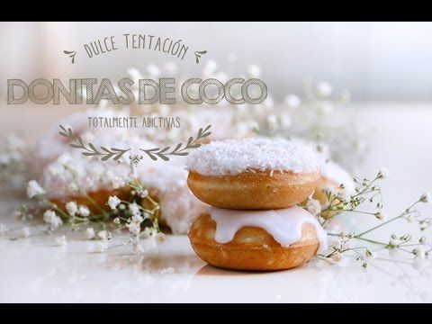 Cómo hacer Donitas de Coco ♥  Mini  Donuts de Coco