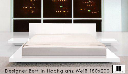 Nett Bett Weiss Hochglanz In 2020 Hochglanz Bett Wohnen