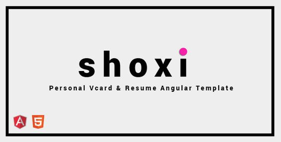 Shoxi - Personal Vcard \ Resume Angular Template (Virtual Business - angularjs resume