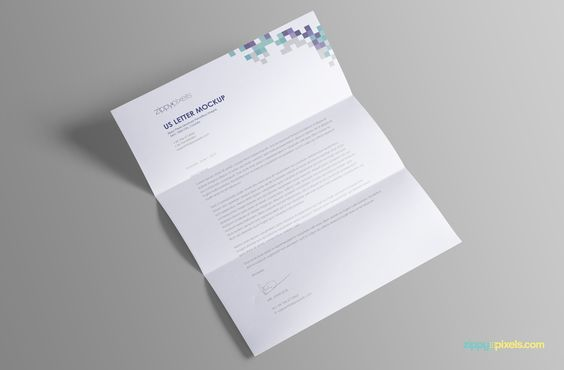 Free US Letter Paper Mock-Up PSD on Behance
