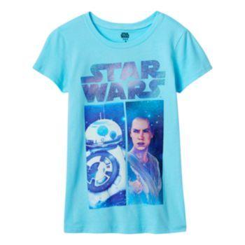 Girls 7-16 Star Wars: Episode VII The Force Awakens Rey & BB-8 T-Shirt