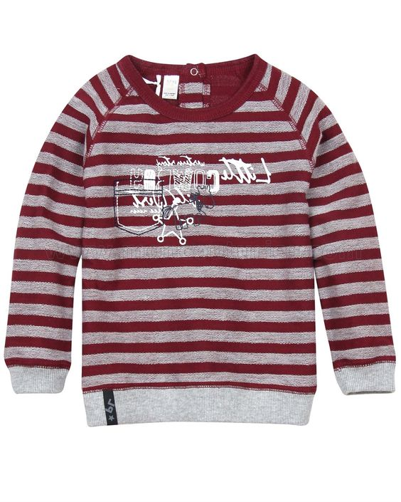 Little Cowboy Striped Sweatshirt