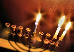 I want a gold hannukiah and red candles to celebrate the second night of Hannukah!