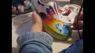 diy marvel shoes - YouTube