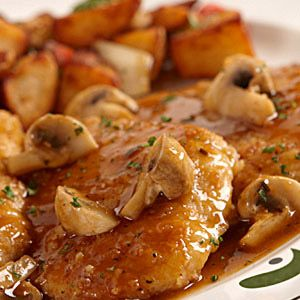 chicken marsala at olive garden (YES! Now I can have Olive Garden food without having to step foot inside of an actual Olive Garden! Yay!)