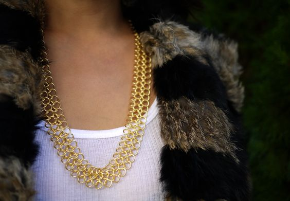 DIY chain ring necklace