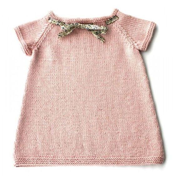 modele tricot gratuit robe 18 mois