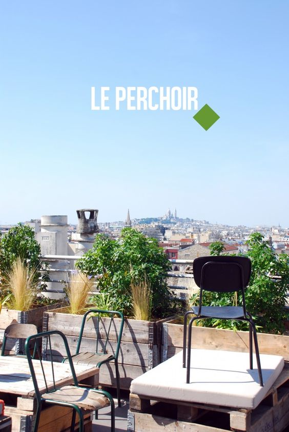 Terrasse toits and bar on pinterest for Terrasse et cie paris 18
