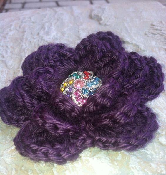 Embellishments Applique Crafting Supplies Crochet by GrammaLeas, $5.50