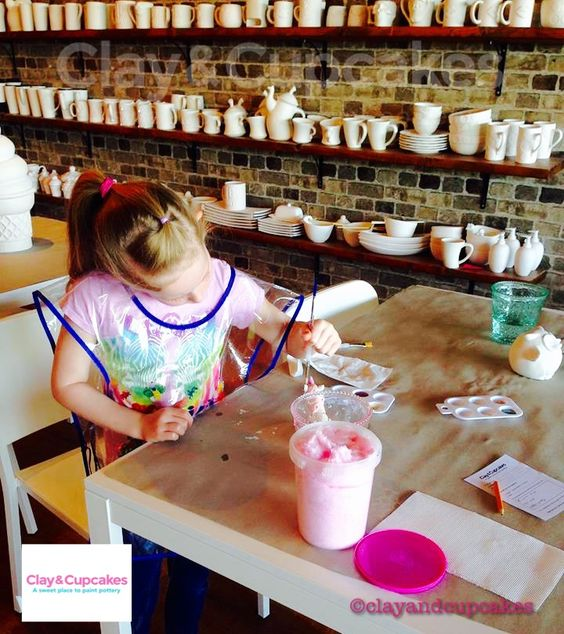 Paint your pottery @ Clay & Cupcakes