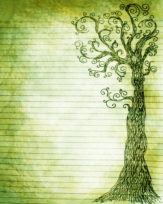 Book of Shadows:  #BOS Printable Journal Page Pen and Ink Drawing of a Tree 8, by InkedInk.