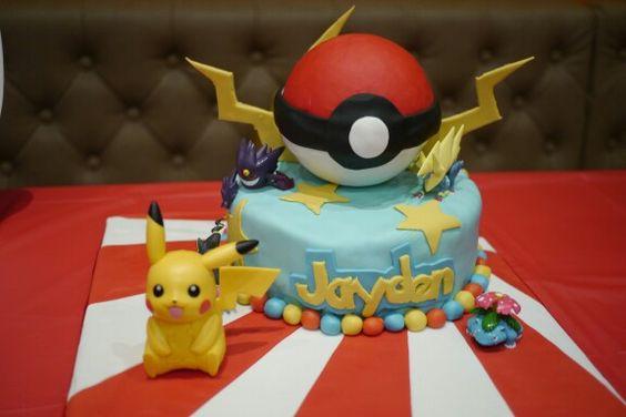 Pokemon birthday cake.