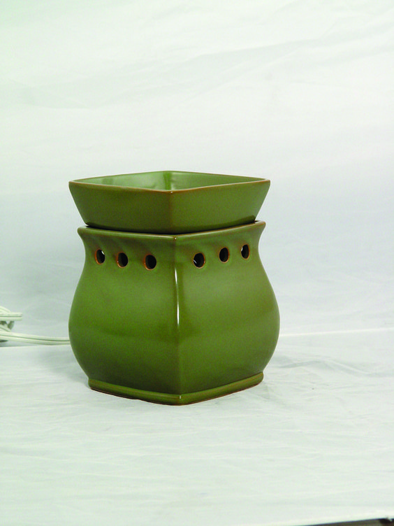 "In the Fall/Winter 2006 Catalog, Scentsy introduced ""Scentsy Green"" the first warmer inspired and designed by Heidi Thompson"