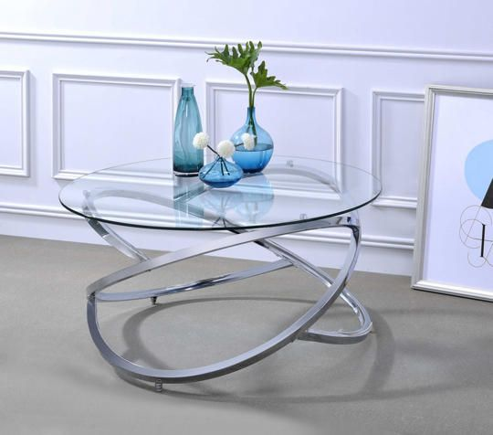 Anya Chrome Cocktail Table Art Van Furniture Coffee Table Glass Top Coffee Table Coffee Table Setting