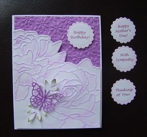 Handmade Embossed Cards | Posts related to purple and white Handmade Embossed Card collection