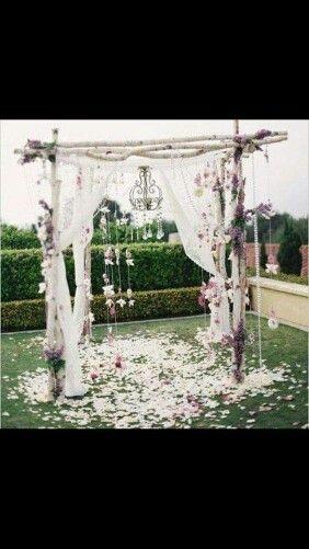 Altar para boda al aire libre