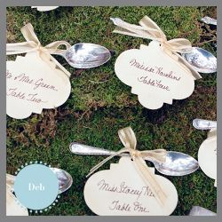Tea Stained Escort Cards by DragonflyDesignsAustin, via Flickr  www.invitationsbydragonflydesigns.com  #vintage #vintage tea party #calligraphy #tea stained