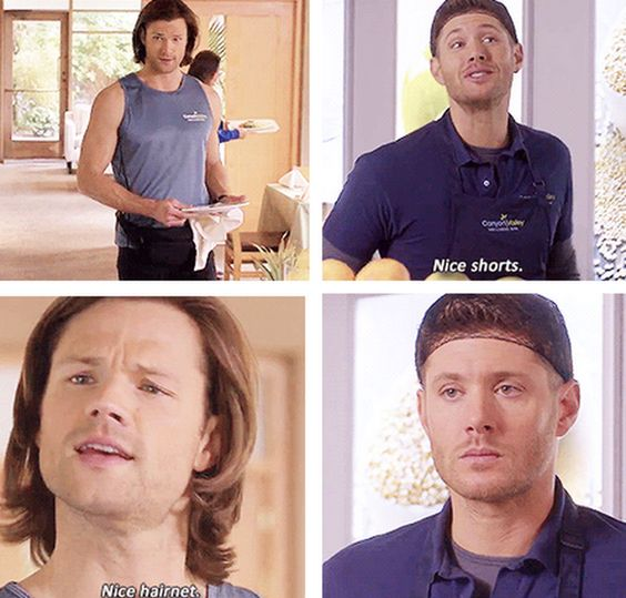 """Nice shorts."" ""Nice hairnet."" 