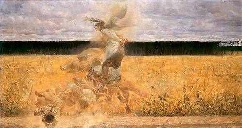 Jacek Malczewski - W Tumanie (Dust Storm)  1893-94.