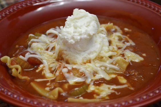"""""""Point-less"""" Meals: Lasagna Soup"""
