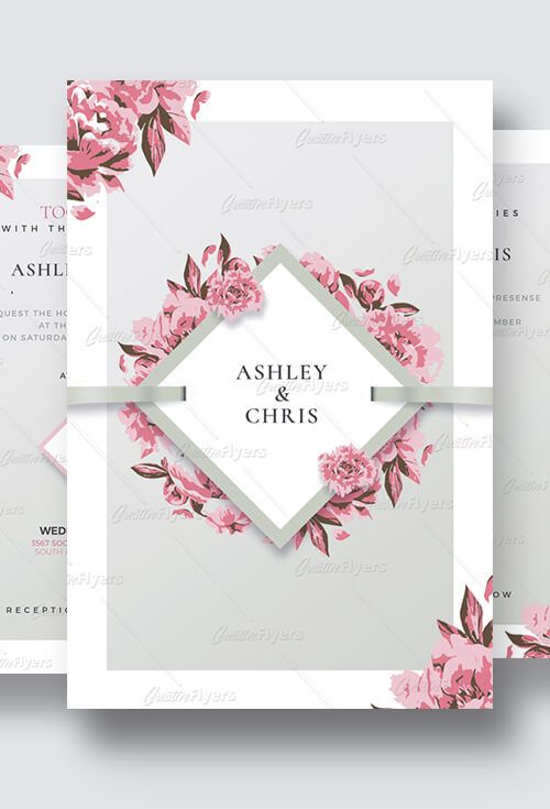 Wedding Invitation Psd Templates Creativeflyers Grafika