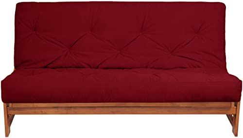 New Mozaic Futon Mattress Twin Suede Red Living Room Furniture