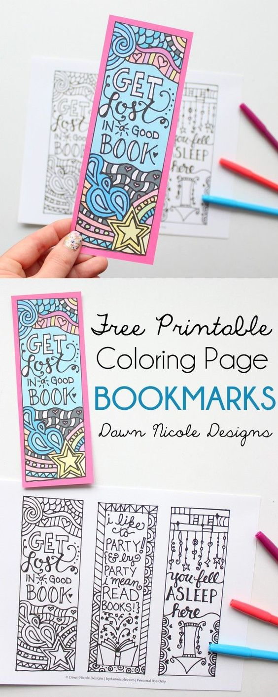 Colouring makes us feel better! Download these Free Printable Coloring Bookmarks and spend some stress free time colouring then dive into your favourite book.