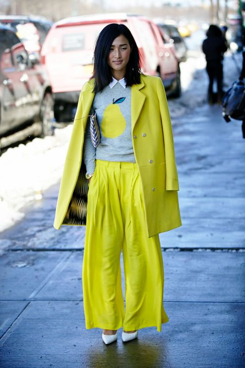 I like her hair cut..Winter Outfit Ideas From New York Fashion Week Fall 2013