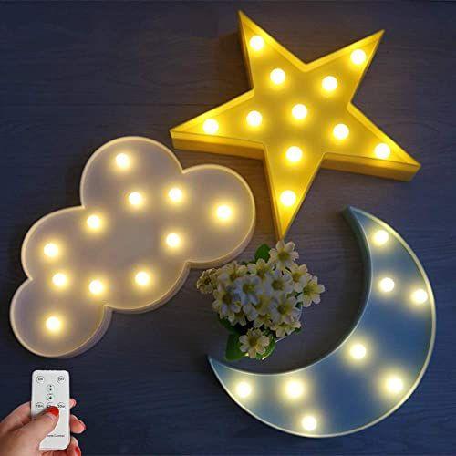 New Winice Cute Multicolor Led Night Light For Animals Clouds Stars Moon Remote Control And Timer Setting Night L V 2020 G Nochnye Ogni Nochnik Svetilniki V Vide Oblaka