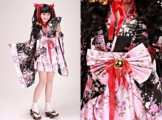 Cosplay Lolita japanische Kimono Manga Dress Costumes Kostüme Neu