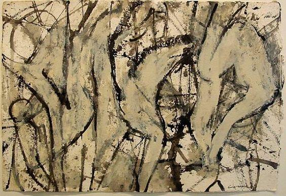 Nicolas Carone, Untitled, mixed media on paper