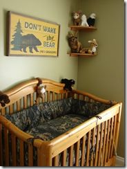 Someday, when we have kids, camo nursery is soooo happening.@ Erin Comar, I can totally see this for your baby.. In the future of course.