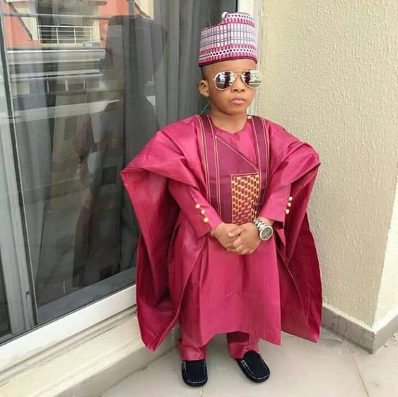 #1. Agbada Styles For Male Kids