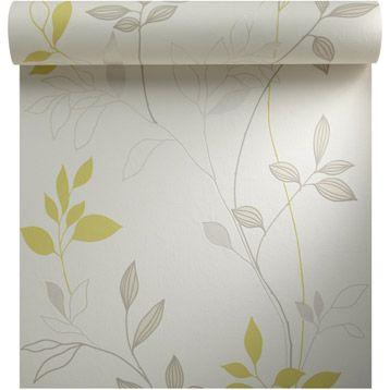 Papier peint vinyle expans sur intiss fresh garden - Papier peint vinyle expanse ...
