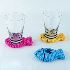 Download this free pattern at allcrochetpatterns.net fish coasters