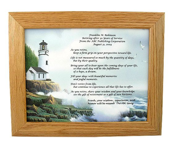 Retirement Poems, Retirement Parties And Retirement Gifts