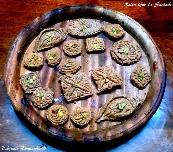 Nolen Gur Er Sandesh: Recipe of famous Bengali Sweet Sandesh flavored with Date Palm Jaggery or Nolen Gur is now in Debjanir Rannaghar