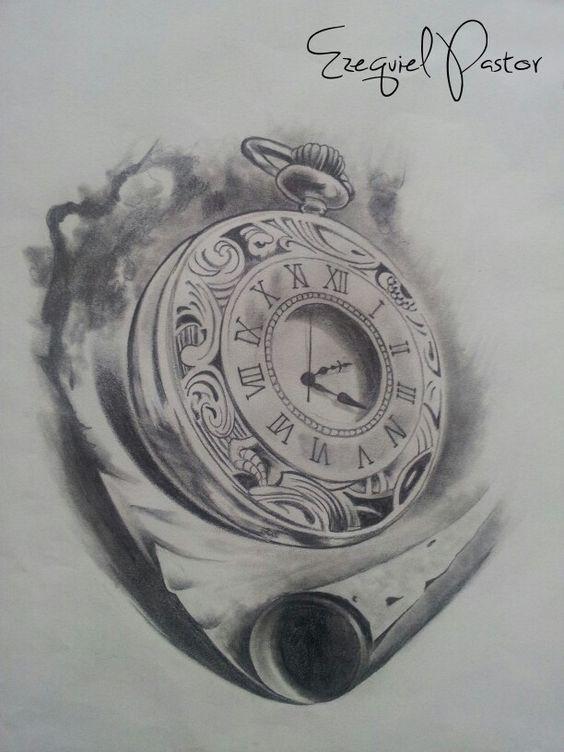 draw drawing dibujo sketch book design dise o art realistic portrait realismo watch clock. Black Bedroom Furniture Sets. Home Design Ideas