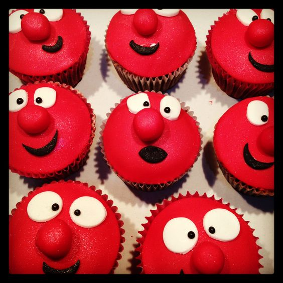 Red Nose Cake Images : Red Nose Day cupcakes Cakes Pinterest Red nose day ...