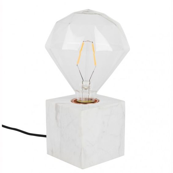 Lamp Zuiver - Bolch marble white