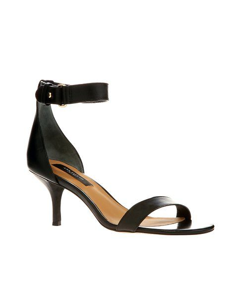 Mara Ankle Strap Leather Kitten Heel Sandals | Cas, Kitten heels ...