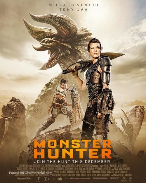 Monster Hunter 2020 Movie Poster Monster Hunter Monster Hunter Movie Milla Jovovich