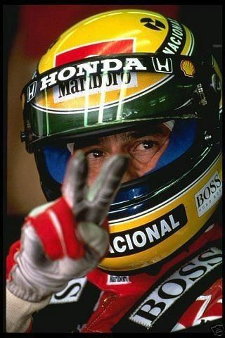 """""""You will never know the feeling of a driver when winning a race. The helmet hides feelings that cannot be understood"""".  - Ayrton Senna da Silva, three-time Formula 1 world champion."""