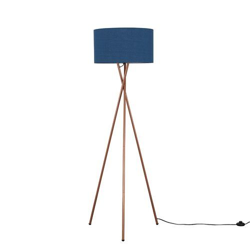Drum 162cm Tripod Floor Lamp Minisun Shade Colour Navy Blue Bulb
