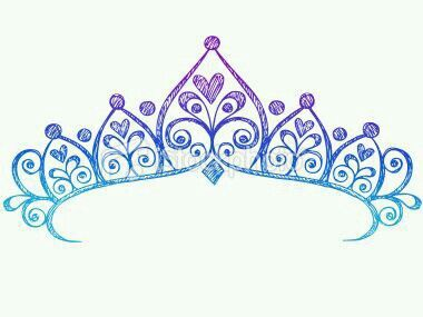 Princess crown. Colours: purple, dark and light blue