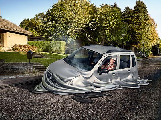 Melting Cars on Behance
