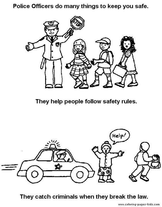 kids safety coloring pages - photo#41