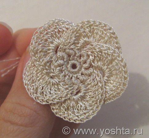 Irish crochet flower + tutorial